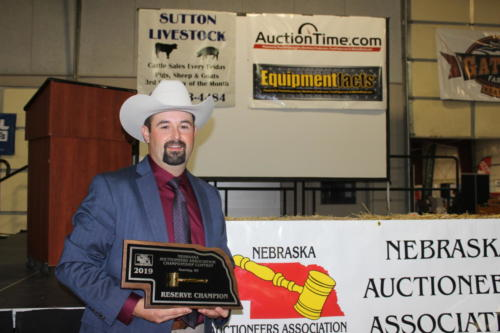 Matt Becker 2019 Reserve Champion Auctioneer